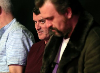 Roy Keane watches the final of the Betfred Snooker World Championships between Mark Selby and Ding Junhui at the Crucible last weekend.