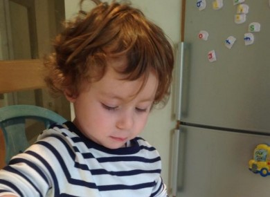 Three-year-old Caleb Watters was rescued by a passerby after he fell into the River Lee last Friday.
