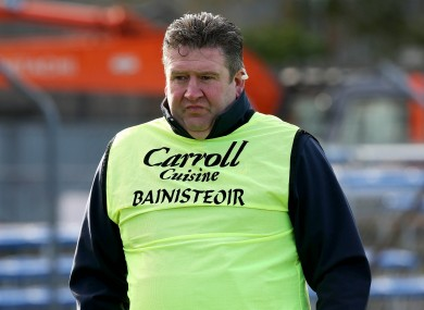 Offaly manager Eamonn Kelly.
