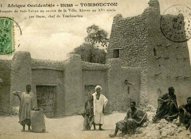 A postcard published by Edmond Fortier showing the mosque in 1905-1906.