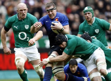 Harinordoquy in action against Ireland during the 2012 Six Nations.