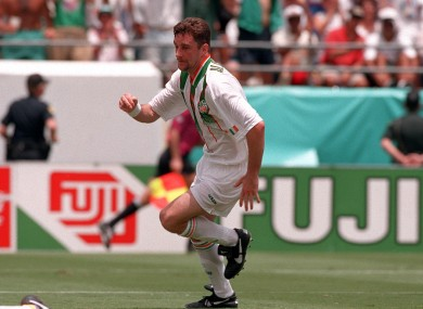 Alridge during the 1994 World Cup game with Mexico.