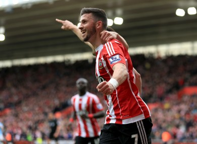 Southampton's Shane Long celebrates scoring his side's first goal of the game.