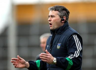 Limerick hurling manager TJ Ryan.