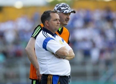 Clare boss Davy Fitzgerald with selector Donal Óg Cusack.