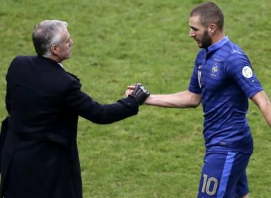France coach Didier Deschamps and striker Karim Benzema.