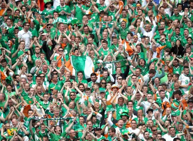 Republic of Ireland supporters in the stands during Euro 2016.