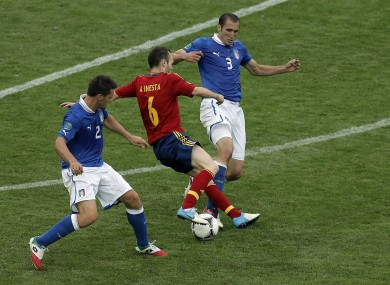 Andres Iniesta and Giorgio Chiellini are set to face off next Monday in Saint-Denis.
