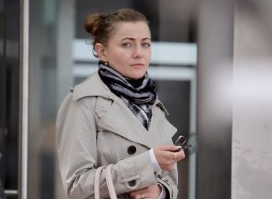 Marta Herda outside the criminal courts in Dublin.