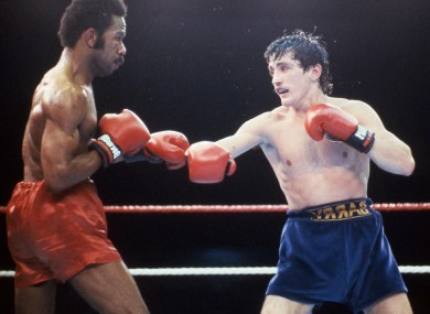 Barry McGuigan on his way to beating Eusebio Pedroza.