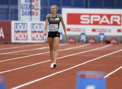 Stepanova is hoping to gain last minute entry to the Rio Games.