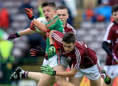 Mayo's Paul Lambert with Galway's Eoghan Deeley