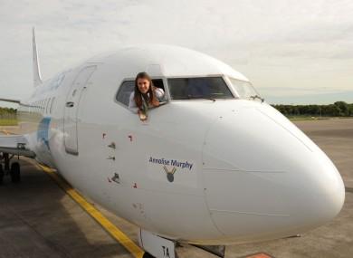 Annalise Murphy inside the Annalise Murphy aircraft