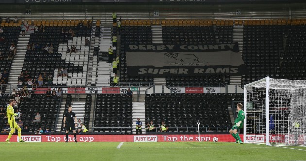 It took 32 penalties before Derby County finally won their shootout in the League Cup last night