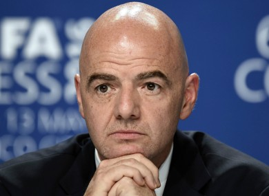 Infantino was elected Fifa president in February.