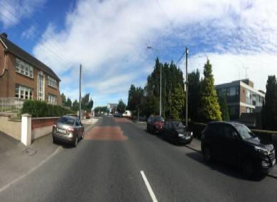 The Dublin Road in Monaghan (old N2 Dublin-Derry road), which has run through Castleblayney College since 1989.