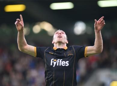 Dundalk striker David McMillan celebrates.