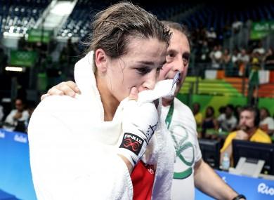 Taylor: devastated after shock defeat to Finland's Potkonen.
