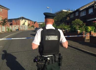 Police at the scene in Sunningdale Gardens.
