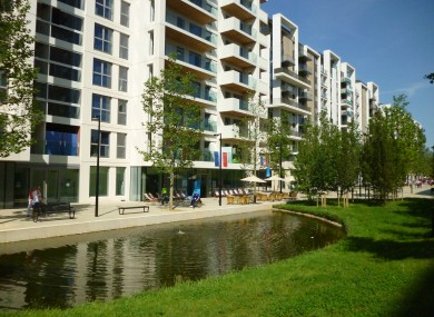 General view of the Paralympic Village London 2012.