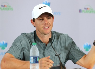 World number five Rory McIlroy.