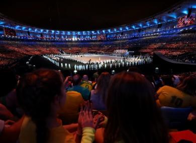 A crowd of over 70,000 were inside the Maracana.