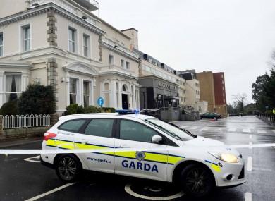 The scene of the Regency Hotel shooting in February.