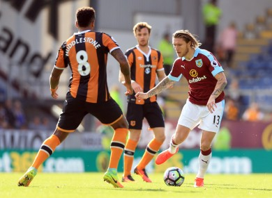 Hendrick: signed by Burnley for a reported £10.5 million.