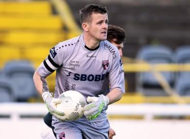 Youths goalkeeper Graham Doyle.