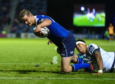 Tonight's game was Sexton's first match since he picked up an injury in the Pro12 final last season.