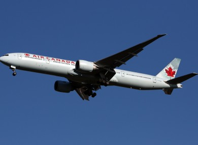 File photo of an Air Canada Boeing.