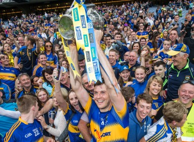 Seamus Callanan celebrates with Tipperary fans after last Sunday's victory.