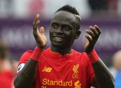 Liverpool's Sadio Mane.