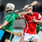 Cuala's Con O'Callaghan is fouled by Barry Aird.<span class=