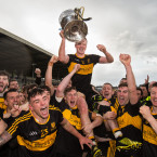Johnny Buckley and Dr. Crokes players celebrate their win.<span class=