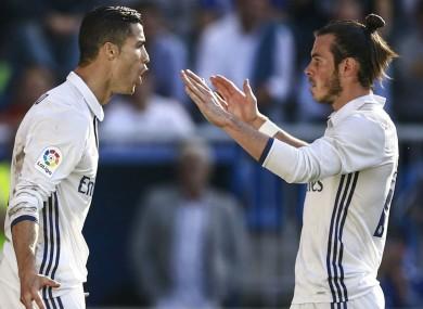 Real Madrid stars Cristiano Ronaldo and Gareth Bale