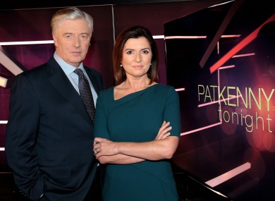 Colette Fitzpatrick and Pat Kenny pictured today on the set of Pat Kenny Tonight at the Virgin Media TV3 HD Studio in Ballymount, Dublin.