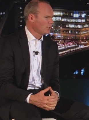 Housing Minister Simon Coveney speaking at TheJournal.ie's Facebook Live event at Facebook Headquarters in Dublin last night.