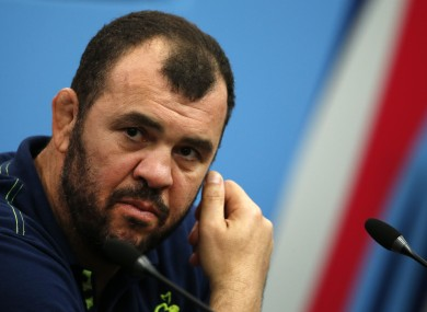 Cheika is hoping to win on his second trip back to Dublin.