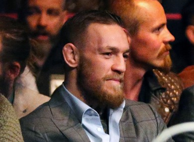 Conor McGregor was at the SSE Arena in Belfast on Saturday night for UFC Fight Night 99.