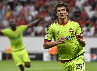 Eremenko in action in the Champions League this season.