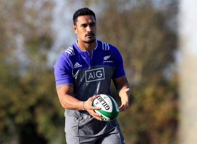 Kaino in training earlier in the week.