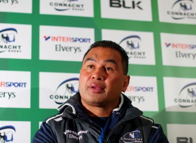 Connacht coach Pat Lam.