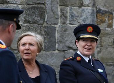 Tánaiste Frances Fitzgerald and Garda Commissioner Noirin O Sullivan