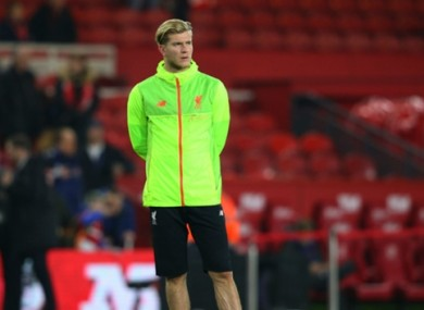 Loris Karius had to be content with a place on the bench last night.