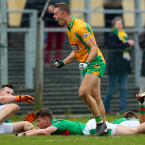 Jason Leonard celebrates hitting the net for champions Corofin.<span class=