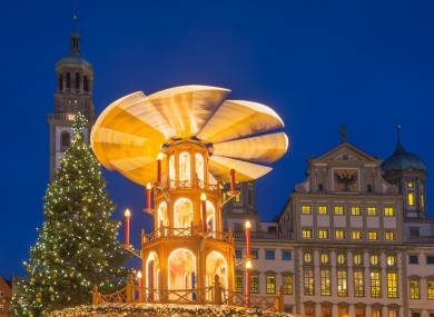File photo of Augsburg at Christmas