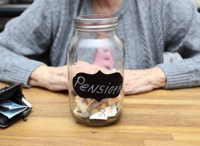 The gap between private pensions and public pensions has the