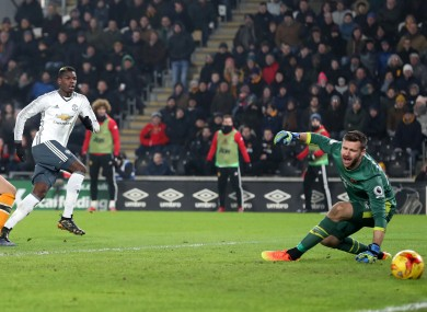 Paul Pogba scores Manchester United's crucial goal.