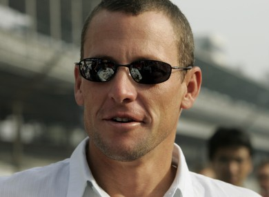 Lance Armstrong: denies ever using a motor.